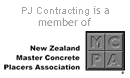PJ Contracting is a member of New Zealand Master Concrete Placers Association